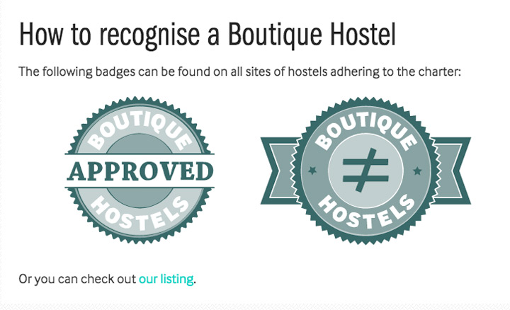 Boutique Hostels Badges