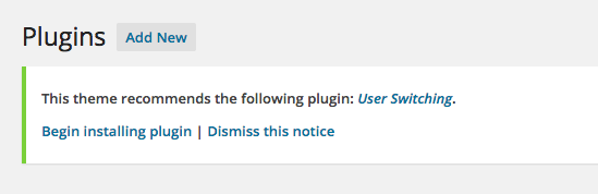 Screen Shot TGM Plugin Activation suggested plugin